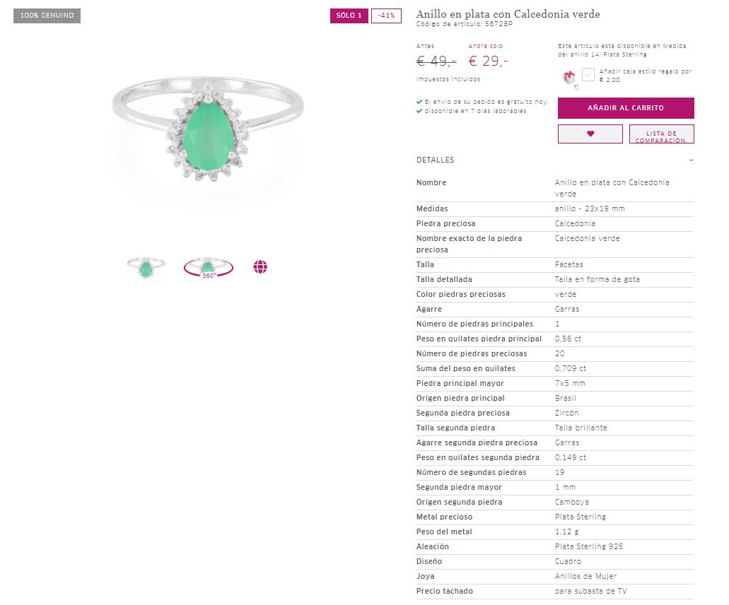 comprar anillos de plata online