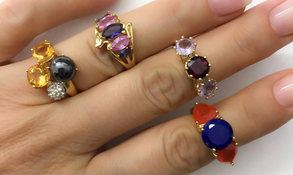 anillos con gemas online